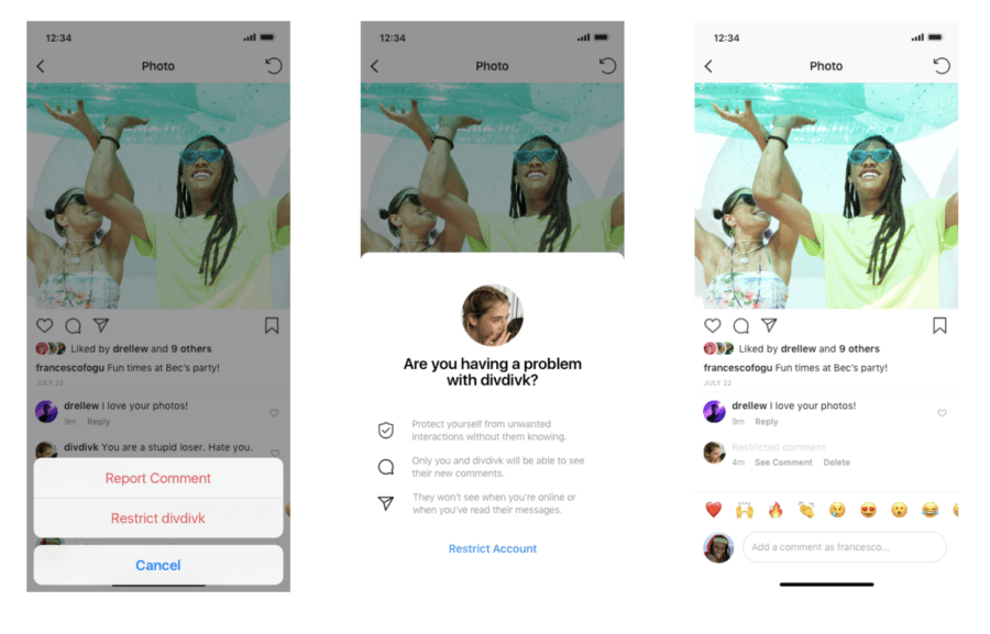 """How to """"Restrict"""" Comments and Accounts on Instagram"""