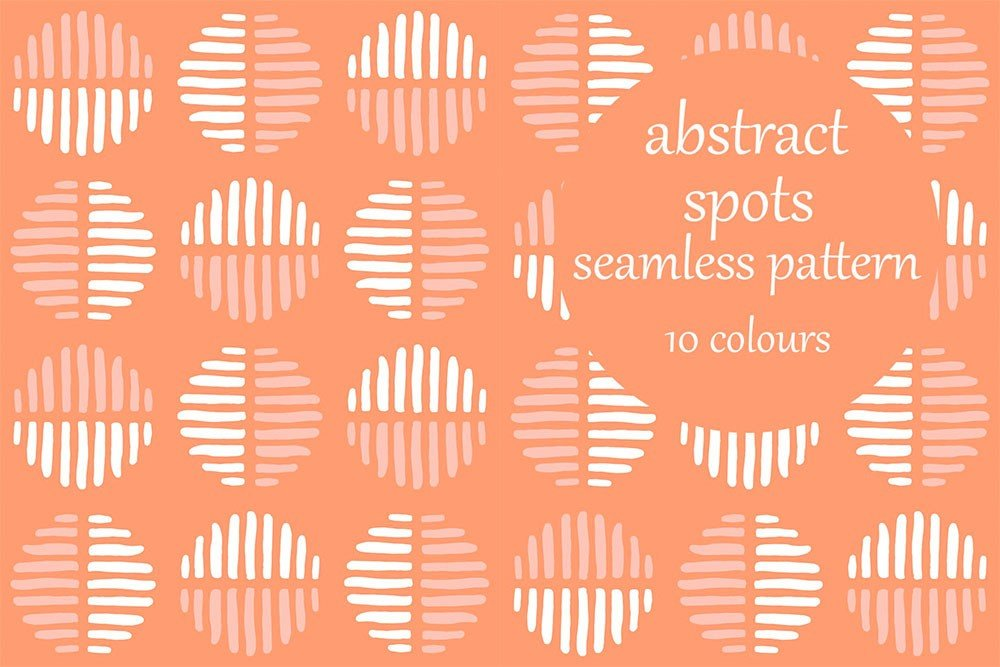 10 Abstract Spots Seamless Patterns for Premium Members