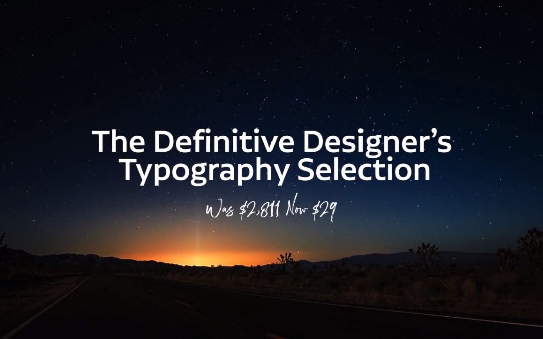 99% off! – Pay just $29 for The Designer's Typography Selection