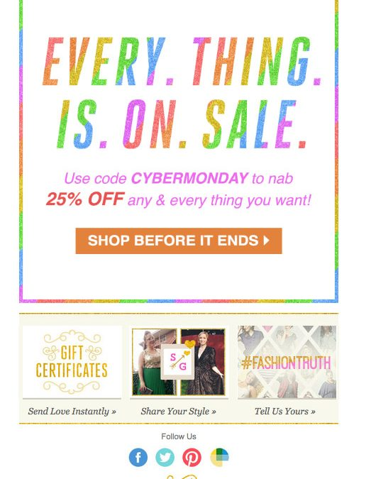 How to Create Better Cyber Monday Emails