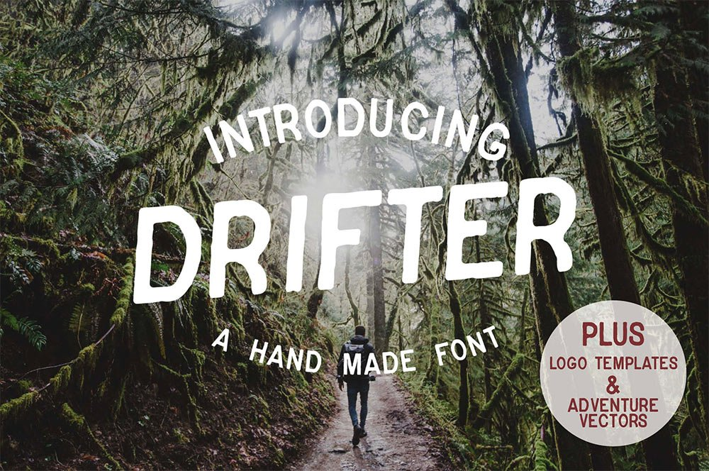 Drifter Font & Buildable Logo Kit for Premium Members