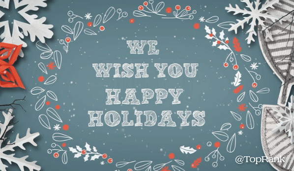 From Ours to Yours, Happy Holidays, Marketers!