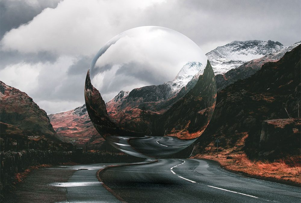 Photoshop Floating Glass Sphere Effect