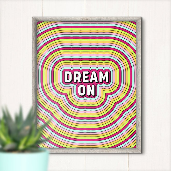 Retro Text Effect with Concentric Stripes