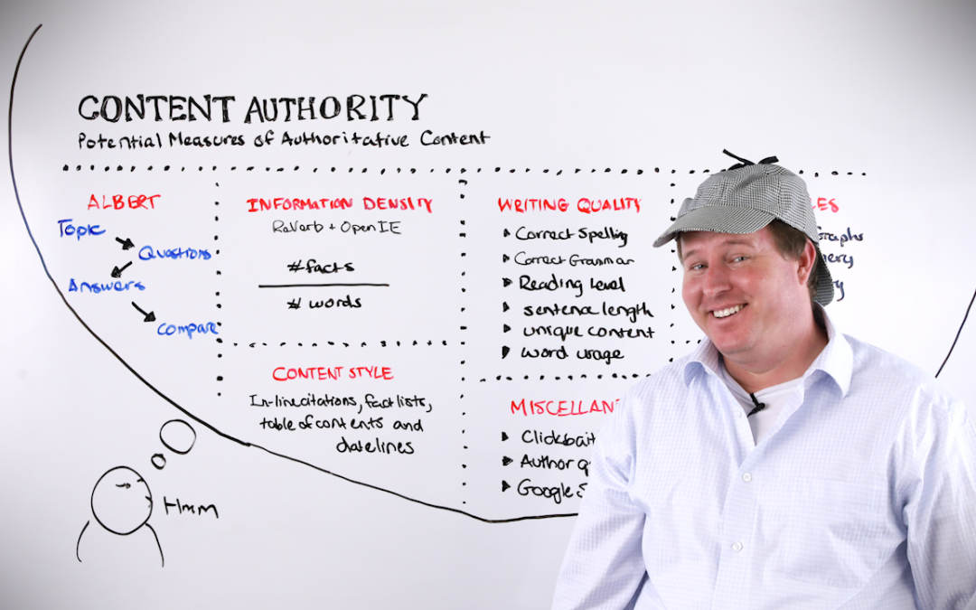 Content Authority: Potential Measures of Authoritative Content – Whiteboard Friday