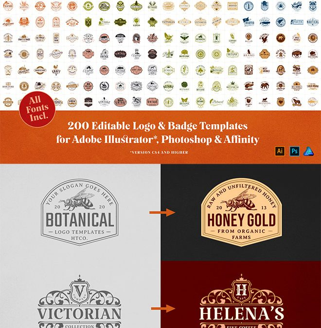 All The Vintage Logo Template Designs You Could Ever Wish For!