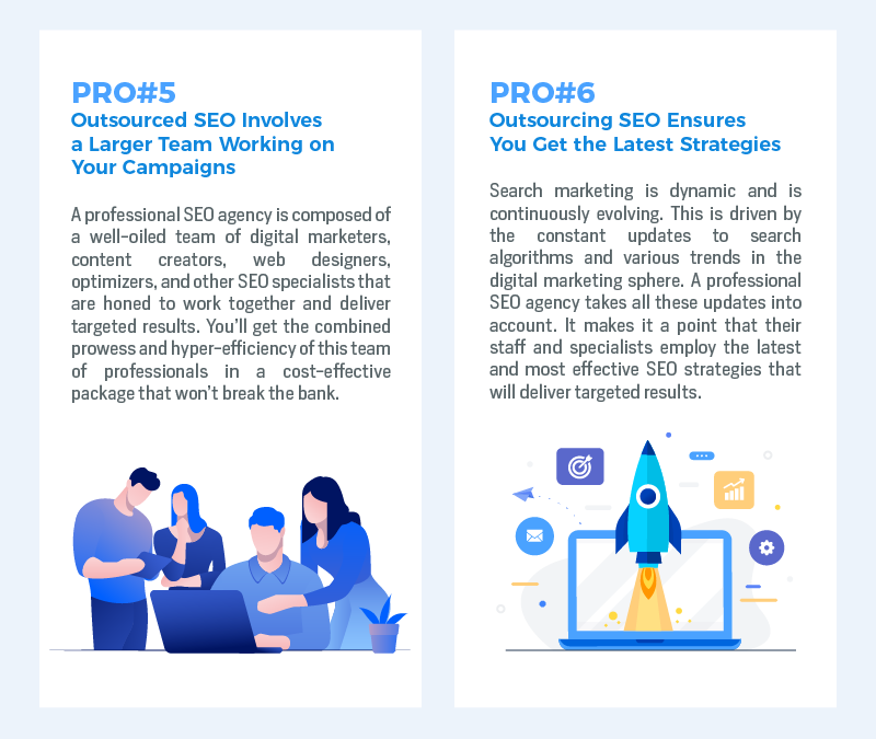 Outsourcing SEO Projects – Pros and Cons [Infographic]