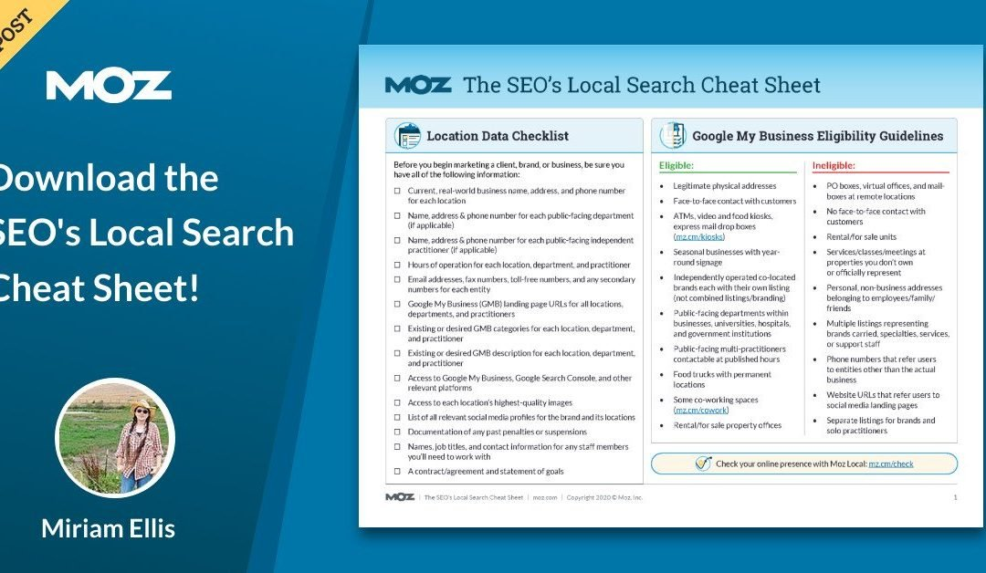 Download the SEO's Local Search Cheat Sheet!
