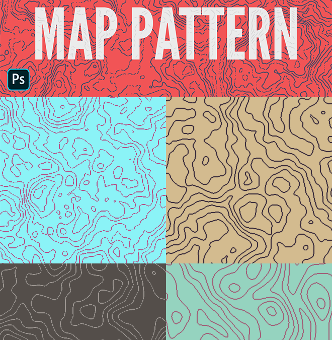 How To Create Topographic Map Patterns in Photoshop