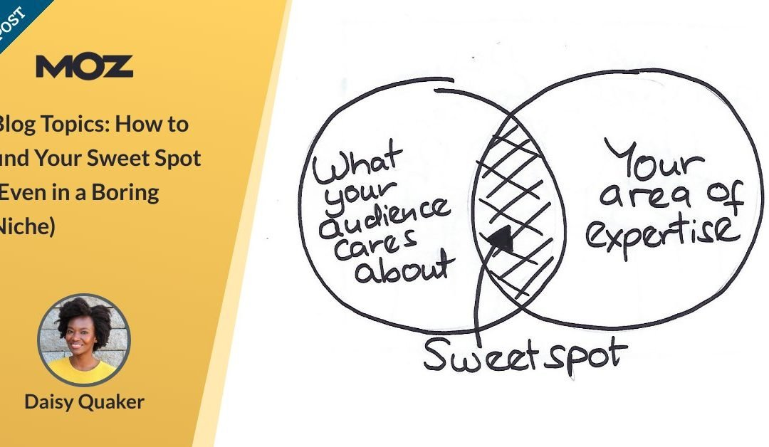 Blog Topics: How to find Your Sweet Spot (Even in a Boring Niche)