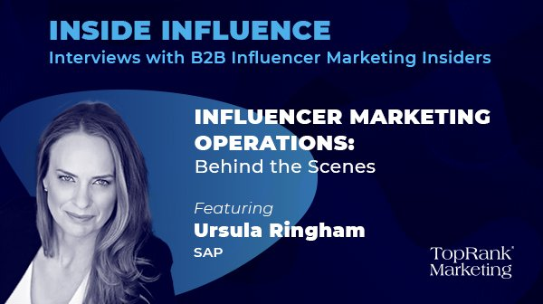 Ursula Ringham from SAP on Influencer Marketing Operations