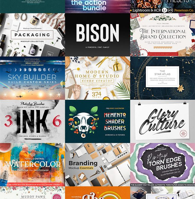 Save up to 50% off Brushes, Fonts, and Add-ons for Adobe Creative Cloud Apps
