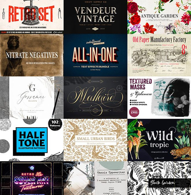 Master the Vintage Design Style with $2014 worth of Resources for Just $29