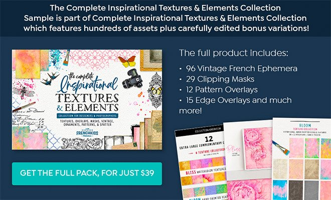 10 Assets from the Inspirational Textures & Elements Collection