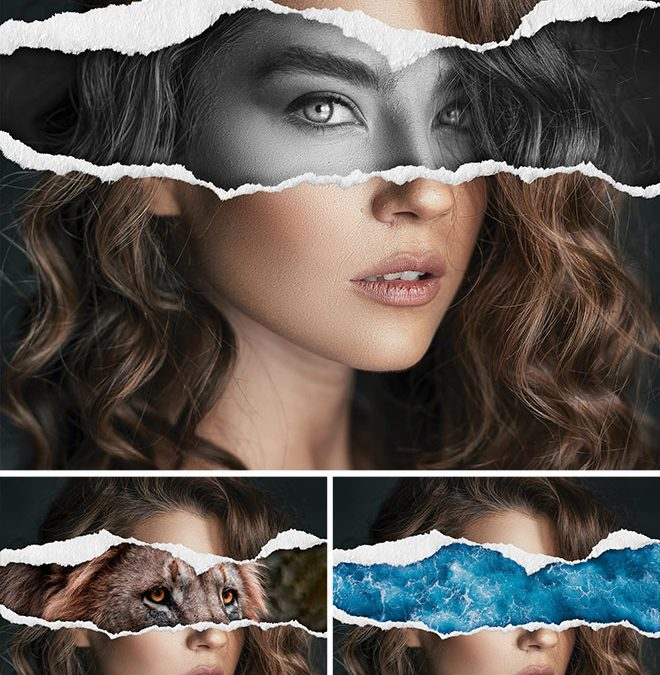 Video Tutorial: Torn Paper Collage Effect in Photoshop