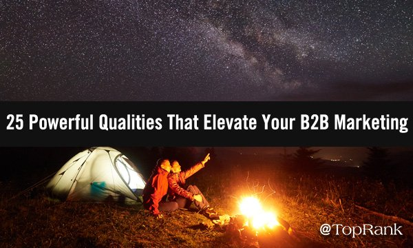 25 Powerful Qualities That Elevate Your B2B Marketing