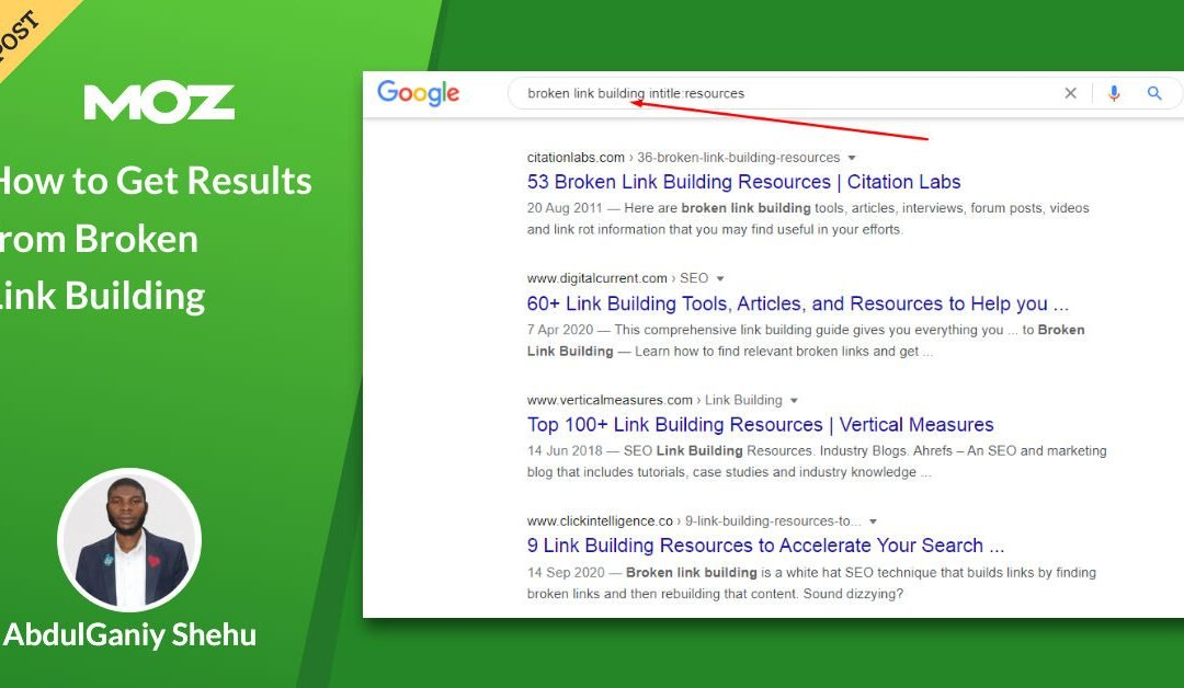How to Get Results from Broken Link Building