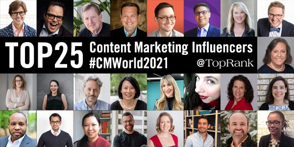 Top 25 B2B Content Marketing Influencers and Experts To Follow #CMWorld 2021
